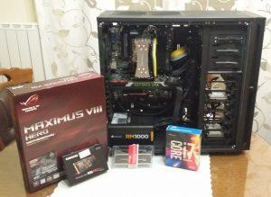 5th main PC. z170, it 6700K, Nvidia TITAN x, Samsung PRO 950 NVMe, ASUS ROG